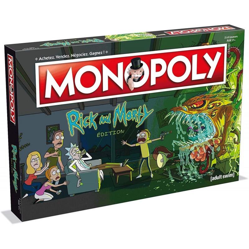 MONOPOLY RICK AND MORTY EDITION VERSION FR - Jeux de Société au prix de 39,95€