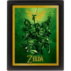 CADRE ZELDA LINK EFFET 3D 29 X 24 CM - Autres Goodies au prix de 14,95€