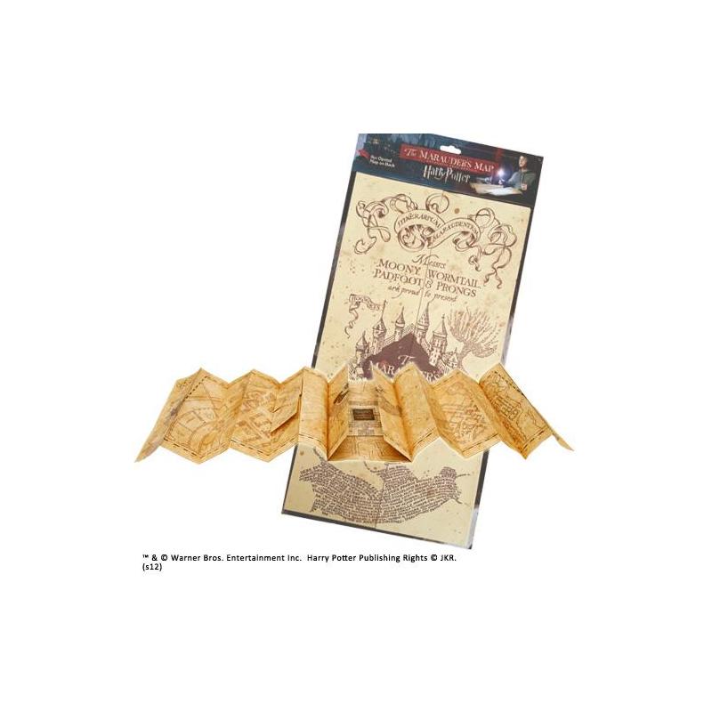 CARTE DU MARAUDEUR HARRY POTTER NOBLE COLLECTION TAILLE REELLE 39 X 184 CM - Autres Goodies au prix de 39,95€