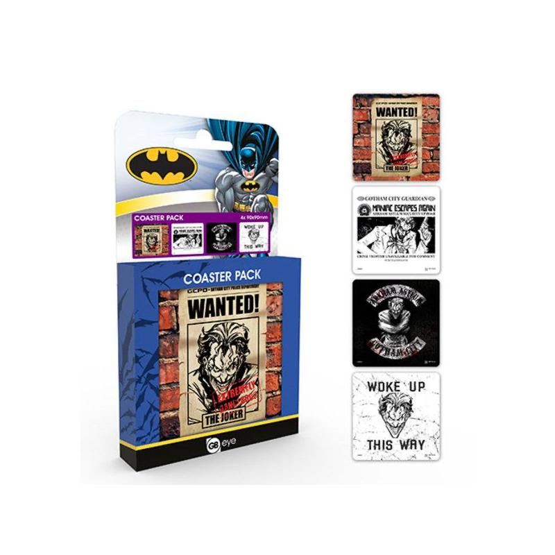 DESSOUS DE VERRES DC COMICS JOKER PACK DE 4 - Autres Goodies au prix de 9,95€