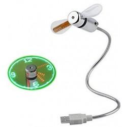 HORLOGE USB MINI VENTILATEUR - Autres Goodies au prix de 9,95€
