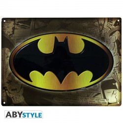 PLAQUE METAL DC COMICS BATMAN SYMBOLE 28 X 38 CM - Autres Goodies au prix de 14,95€