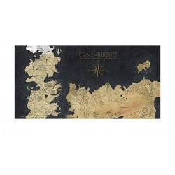 POSTER VERRE GAME OF THRONES WESTEROS 25 X 50 CM - Autres Goodies au prix de 24,95 €
