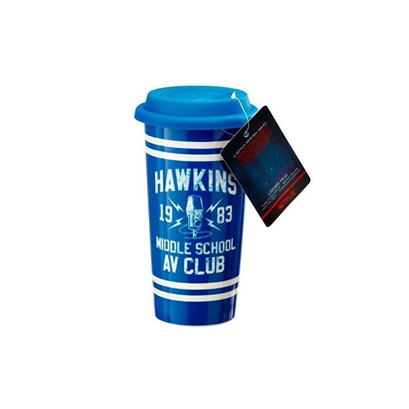 MUG DE VOYAGE STRANGER THINGS HAWKINS 414ML - Mugs au prix de 14,95€