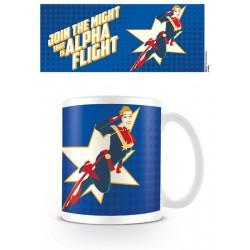MUG MARVEL CAPTAIN MARVEL ALPHA FLIGHT 315ML - Mugs au prix de 9,95€