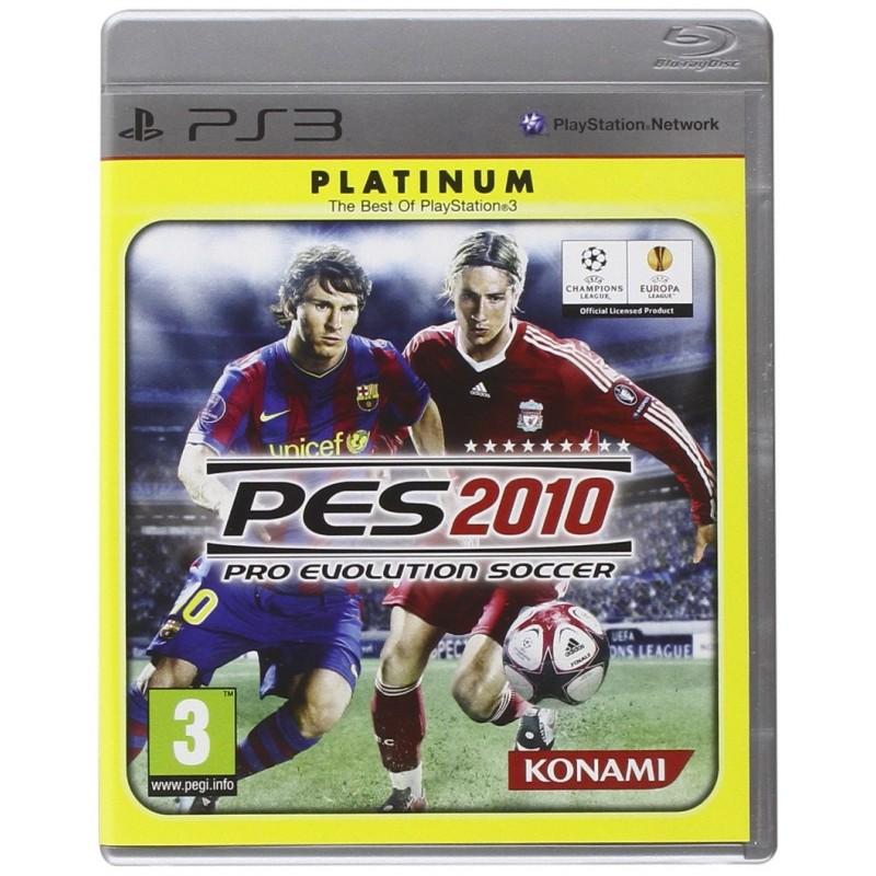 PS3 PES 2010 (PLATINUM) - Jeux PS3 au prix de 1,95€