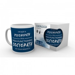MUG SHERLOCK HOLMES I M NOT A SOCIOPATH 300ML - Mugs au prix de 9,95€