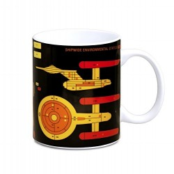 MUG STAR TREK STARSHIP GRAPH 300ML - Mugs au prix de 9,95 €