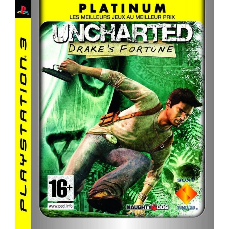 PS3 UNCHARTED DRAKE S FORTUNE (PLATINUM) - Jeux PS3 au prix de 4,95€