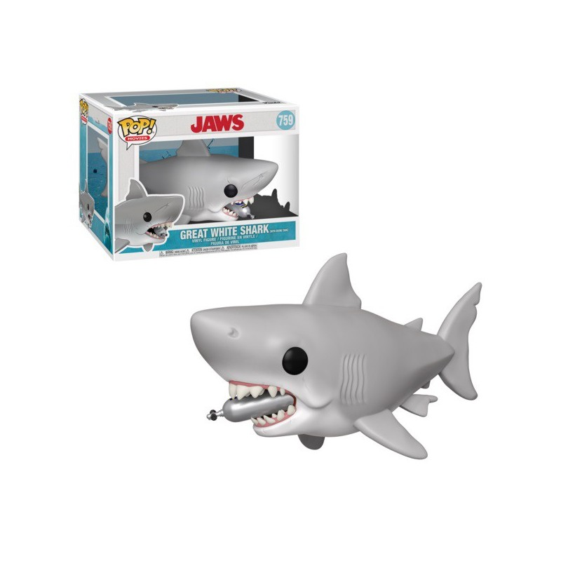 POP DENTS DE LA MER 759 GREAT WHITE SHARK DIVING TANK - Figurines POP au prix de 24,95€