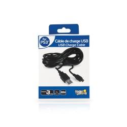 CABLE CHARGE USB PS3 UNDERCONTROL 3M - Accessoires PS3 au prix de 5,95€