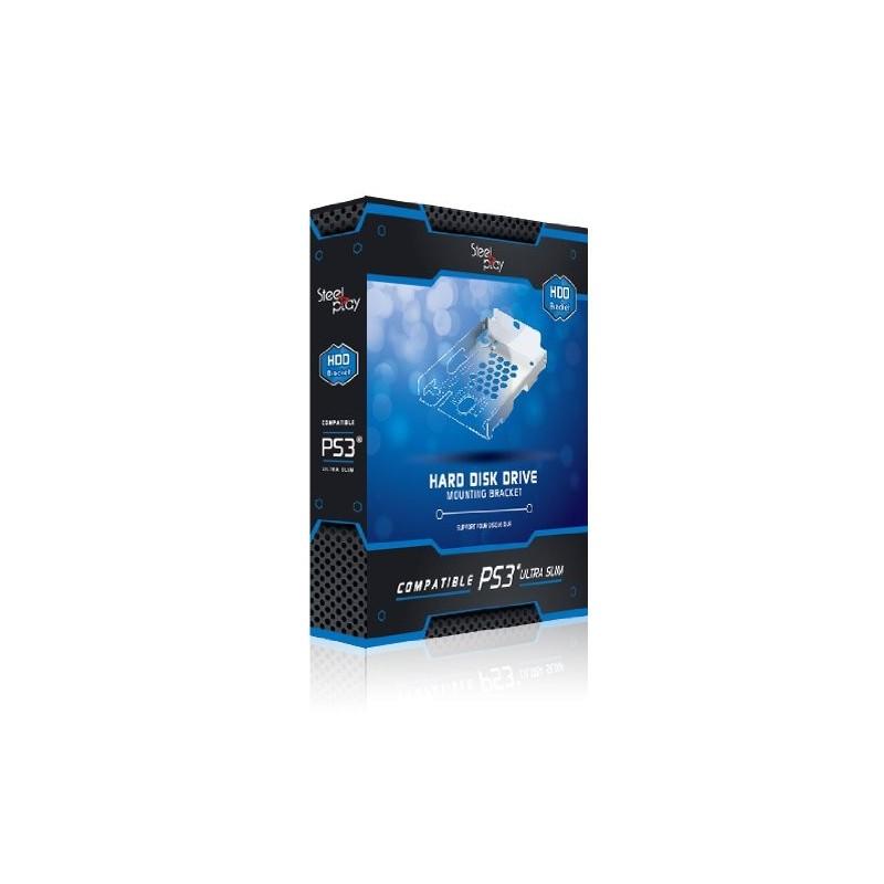 SUPPORT DISQUE DUR PS3 STEEL PLAY ULTRA SLIM - Accessoires PS3 au prix de 9,95€
