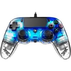MANETTE FILAIRE PS4 NACON CLEAR BLUE - Accessoires PS4 au prix de 39,95€