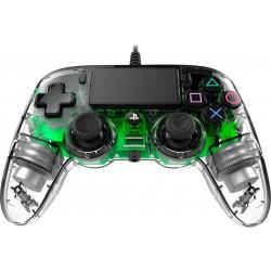 MANETTE FILAIRE PS4 NACON CLEAR GREEN - Accessoires PS4 au prix de 39,95€