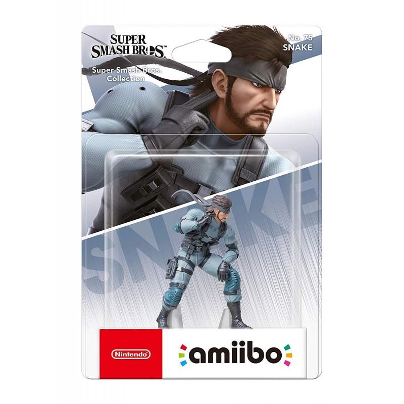 AMIIBO SUPER SMASH BROS SNAKE 75 - Figurines NFC au prix de 17,95€