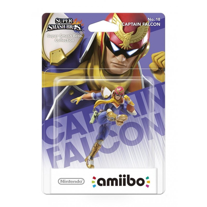 AMIIBO SUPER SMASH BROS 18 CAPTAIN FALCON - Figurines NFC au prix de 14,95€