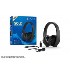 CASQUE PS4 BLUETOOTH NOIR GOLD EDITION - Casques Gaming au prix de 99,95 €