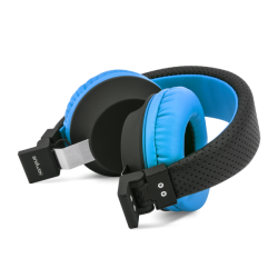 CASQUE FILAIRE CAMPUS BECOLOR BLEU NOIR - Ecouteurs Téléphones au prix de 12,95€