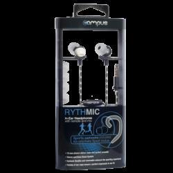 ECOUTEURS CAMPUS RYTHMIC BLANC - Ecouteurs Téléphones au prix de 9,95€