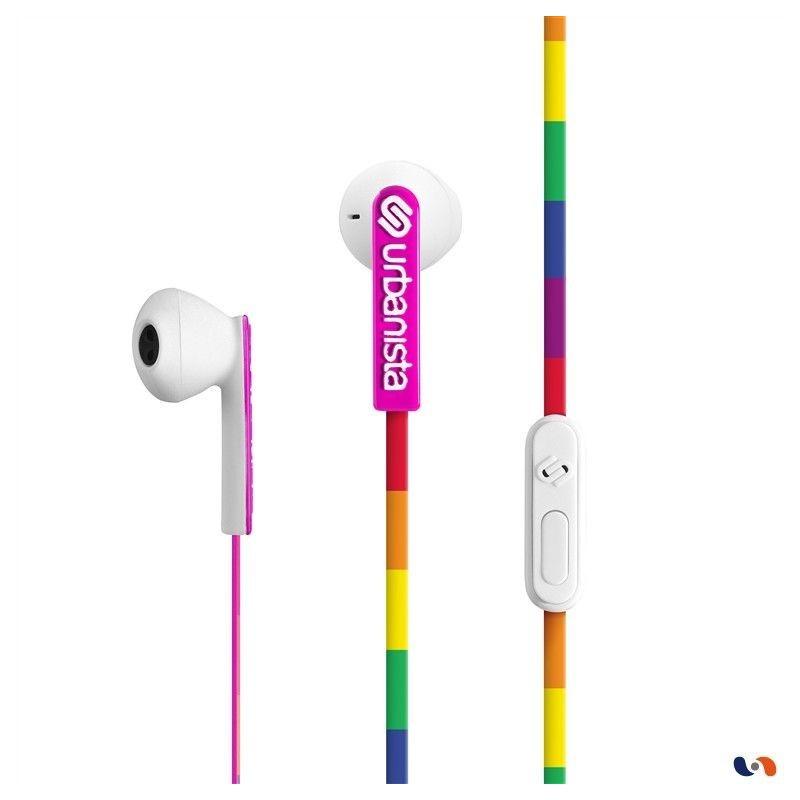 ECOUTEURS URBANISTA SAN FRANCISCO ARC EN CIEL - Ecouteurs Téléphones au prix de 17,95€