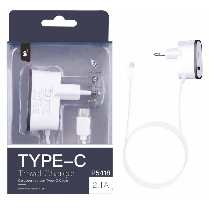 CHARGEUR SECTEUR TYPE C ONE PLUS - Connectique Multimédia au prix de 9,95€