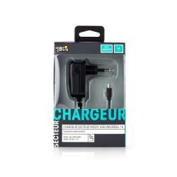 CHARGEUR SECTEUR UNDERCONTROL MICRO USB 1A NOIR - Connectique Multimédia au prix de 9,95€