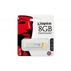 CLE USB KINGSTON 8 GO BLANC JAUNE - Supports de Stockage au prix de 9,95€