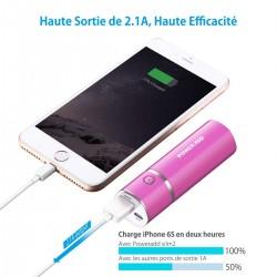 BATTERIE EXTERNE ROSE POWERADD SLIM 5000MAH - Autres Accessoires au prix de 19,95€