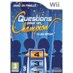 WII QUESTIONS POUR UN CHAMPION - Jeux Wii au prix de 9,95€