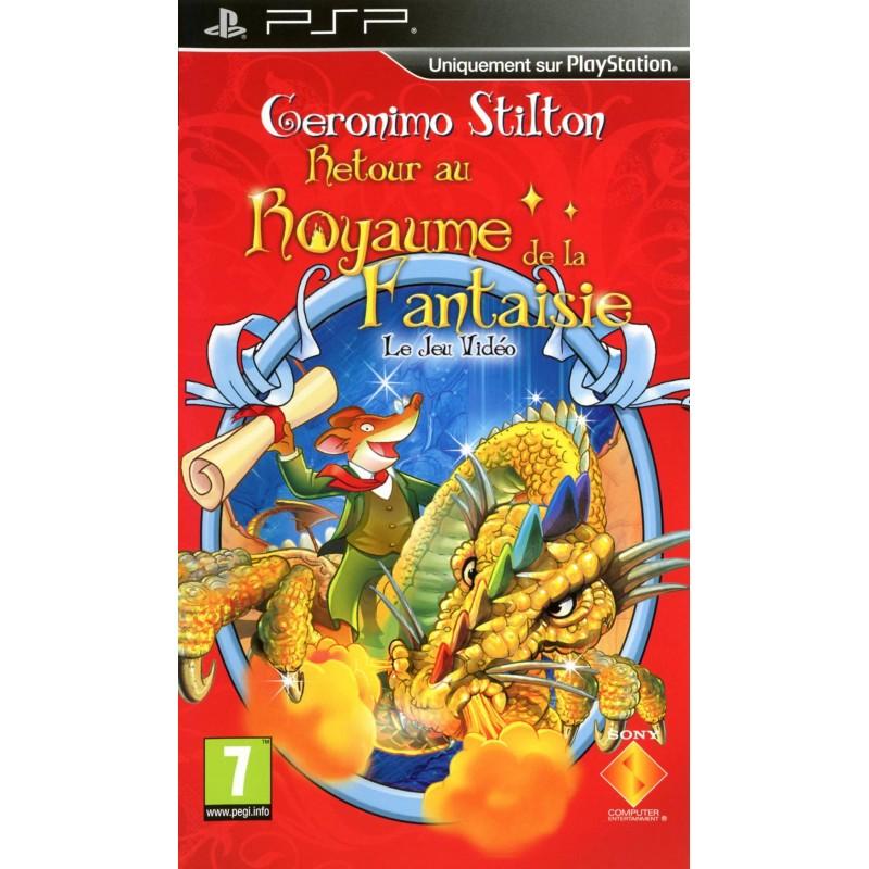 PSP GERONIMO STILTON RETOUR AU ROYAUME DE LA FANTAISIE - Jeux PSP au prix de 4,95€