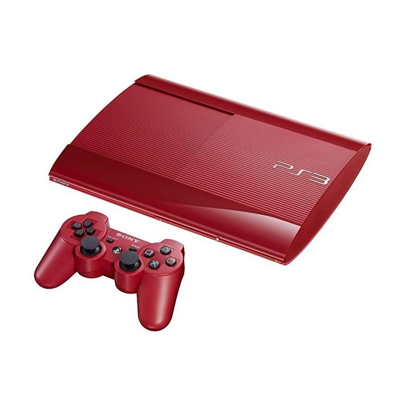 CONSOLE PS3 ULTRA SLIM ROUGE 500GO - Consoles PS3 au prix de 99,95€