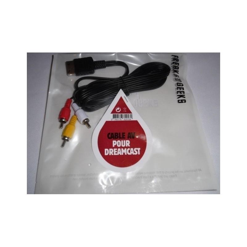 CABLE AV GENERIQUE DREAMCAST - Accessoires Dreamcast au prix de 9,95€