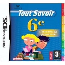 DS TOUT SAVOIR 6EME - Jeux DS au prix de 6,95€