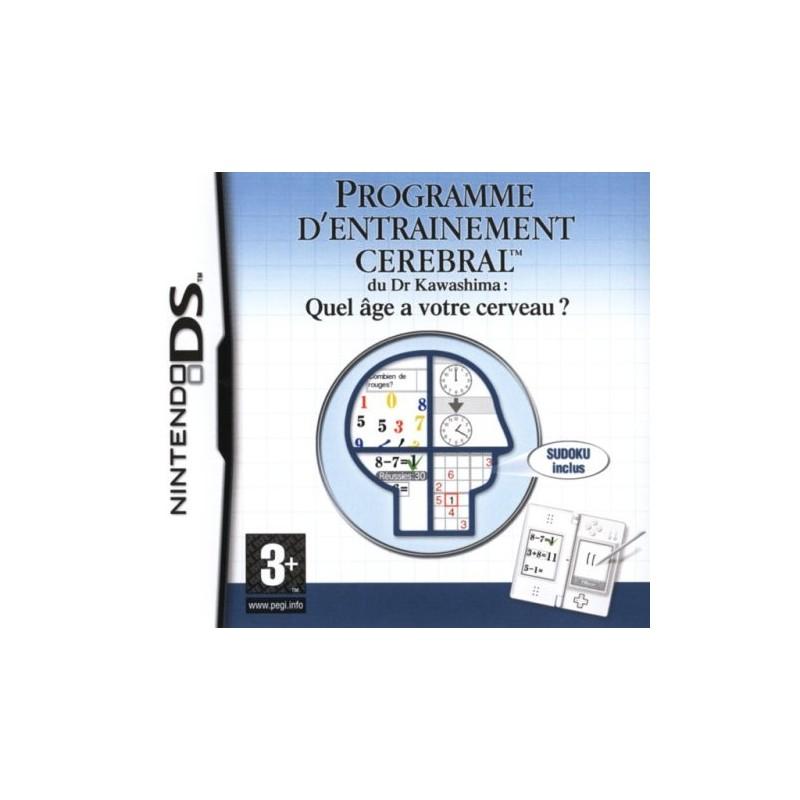 DS PROGRAMME D ENTRAINEMENT CEREBRAL DR KAWAZSHIMA - Jeux DS au prix de 4,95€