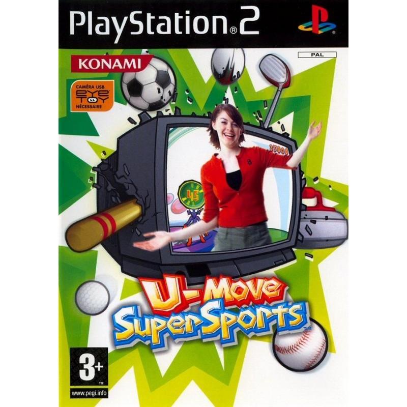 PS2 U MOVE SUPERSPORTS - Jeux PS2 au prix de 1,95€
