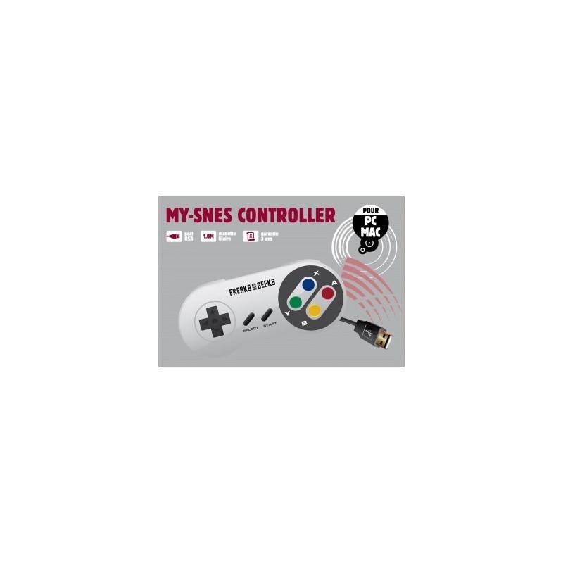 MANETTE SUPER NES PCMAC GENERIQUE - Accessoires Super NES au prix de 14,95€