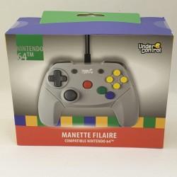 MANETTE N64 GRISE UNDER CONTROL - Accessoires Nintendo 64 au prix de 17,95€