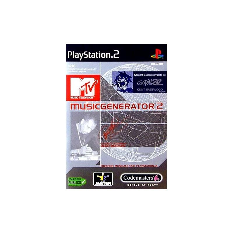 PS2 MTV MUSIC GENERATOR 2 - Jeux PS2 au prix de 4,95€