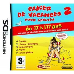 DS CAHIER DE VACANCES 2 ADULTE - Jeux DS au prix de 4,95€