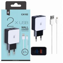 CHARGEUR SECTEUR LIGHTNING ONE PLUS USB X 2 - Connectique Multimédia au prix de 9,95€
