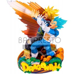 FIGURINE DRAGON BALL SUPER VEGETA ET TRUNKS DIORAMA 20 CM - Figurines au prix de 64,95 €