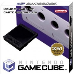 CARTE MEMOIRE GAMECUBE 251 BLOCS OFFICIELLE NINTENDO EN BOITE - Accessoires GameCube au prix de 19,95€
