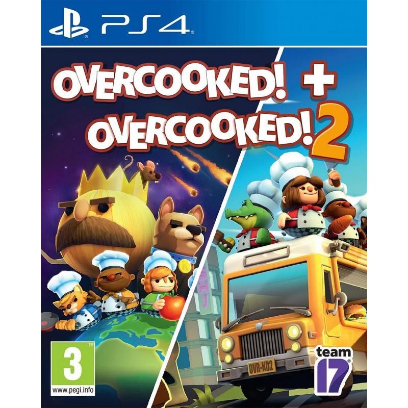 PS4 OVERCOOKED + OVERCOOKED 2 - Jeux PS4 au prix de 29,95€
