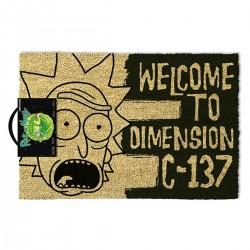 PAILLASSON RICK AND MORTY WELCOME TO DIMENSION C-137 40 X 60 CM - Autres Goodies au prix de 24,95€