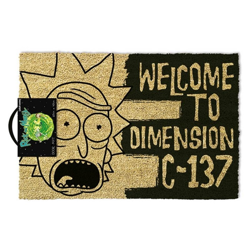 PAILLASSON RICK AND MORTY WELCOME TO DIMENSION C-137 40 X 60 CM - Autres Goodies au prix de 24,95 €