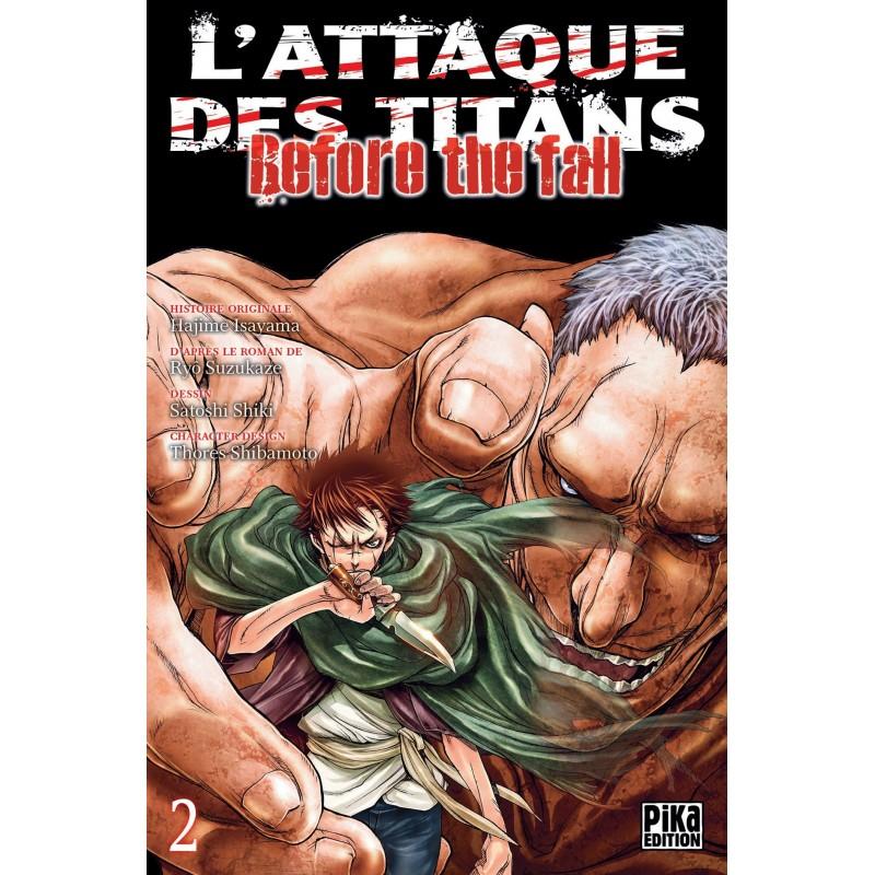 L ATTAQUE DES TITANS BEFORE THE FALL T02 - Manga au prix de 6,95€