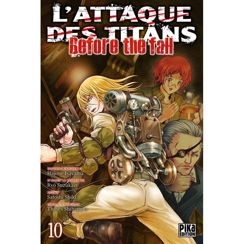 L ATTAQUE DES TITANS BEFORE THE FALL T10 - Manga au prix de 6,95€