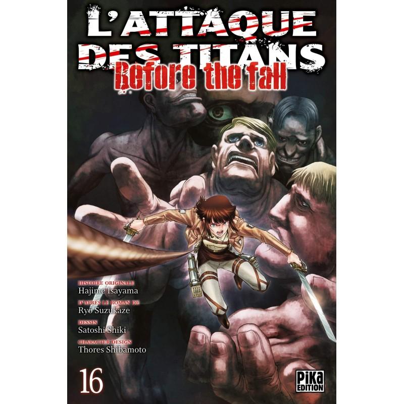 L ATTAQUE DES TITANS BEFORE THE FALL T16 - Manga au prix de 6,95€