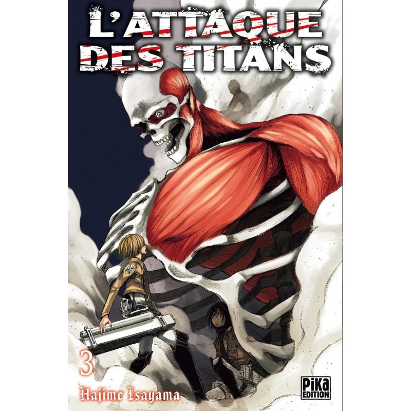 L ATTAQUE DES TITANS T03 - Manga au prix de 6,95€