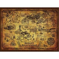 PUZZLE LEGEND OF ZELDA HYRULE MAP 550 PIECES - Puzzles au prix de 14,95€